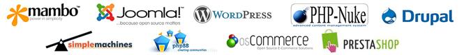 รองรับการใช้งาน Joomla , WordPress, Drupal, SMF, PHPBB และ Open Source CMS อื่น ๆ